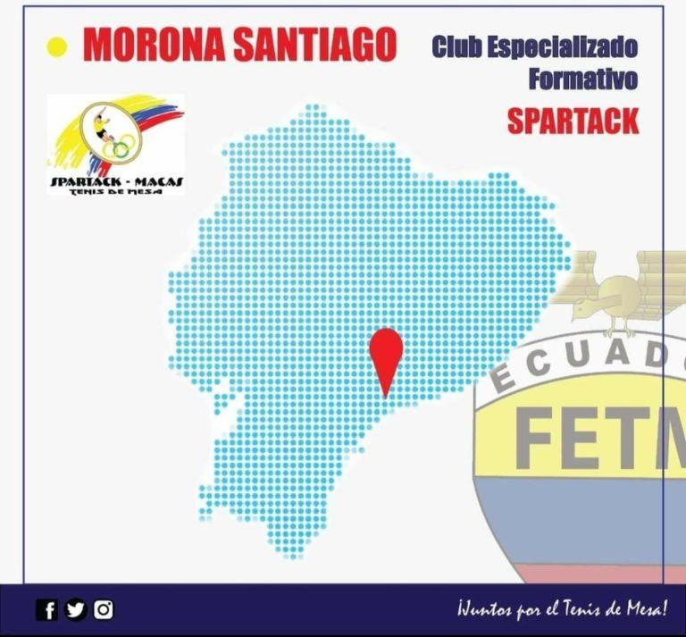 """CLUB DEPORTIVO FORMATIVO ESPECIALIZADO DE TENIS DE MESA """"SPARTACK MACAS"""""""